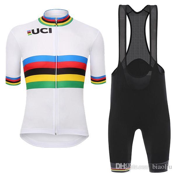Cheap 2017 UCI Cycling Jersey Maillot Ciclismo Short Sleeve And Cycling Bib  Shorts Cycling Clothing Kits Strap Cycle Jerseys Ciclismo Bicicletas 915e90fd2