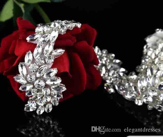 2021 Moda de lujo Rhinestone Cinturón de adorno vestido de novia Accesorios Cinturón 100% Hecho a mano Más vendidas