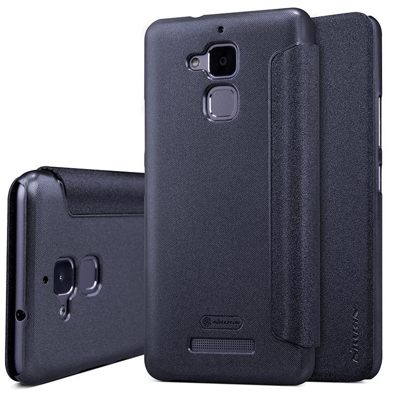huge discount a5ad4 9a3b7 case for asus zenfone 3 max zc520tl case cover 5.2 inch NILLKIN sparkle PU  leather case flip cover for asus zenfone 3 max