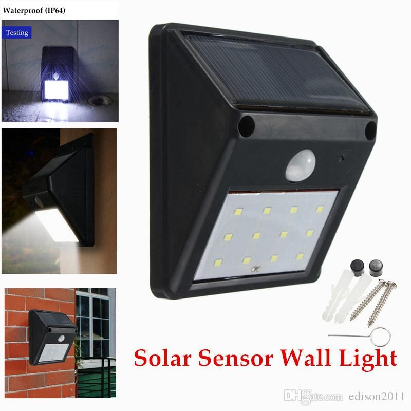 Hearty Led Solar Power Road Motion Sensor Wall Light Outdoor Garden Waterproof Lamp New Event & Party