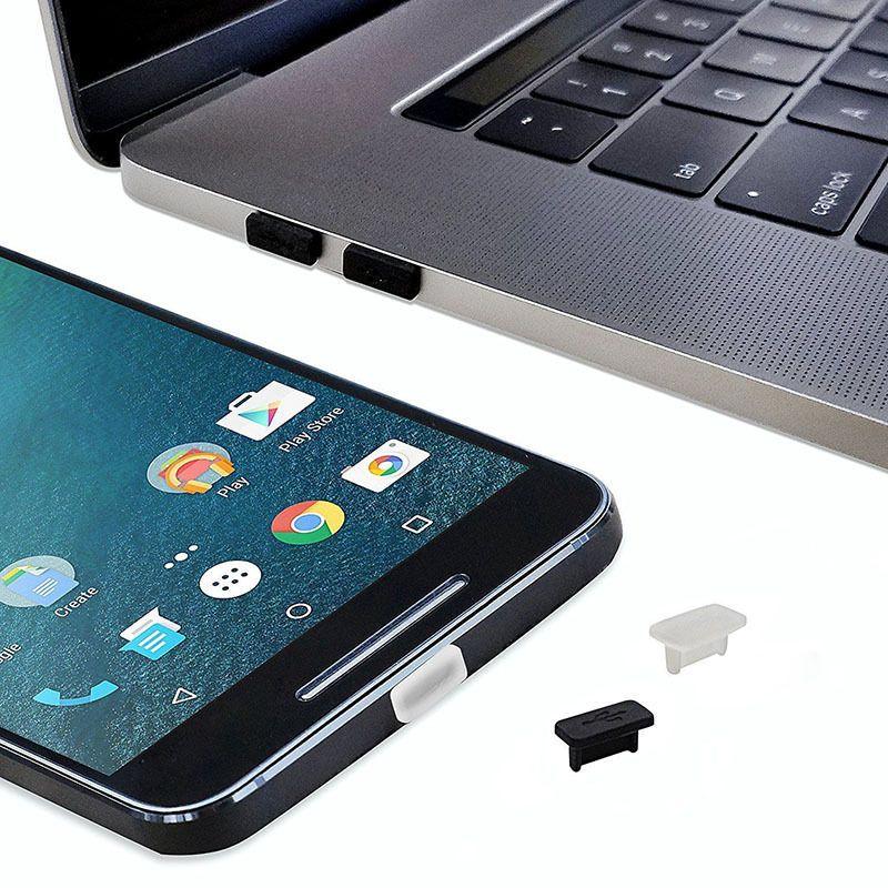 1000 Takım Anti toz tak Stoper Seti USB Tipi-C + Kulaklık Jack 3.5mm silikon samsung galaxy s8 s8plus huawei LG LETV