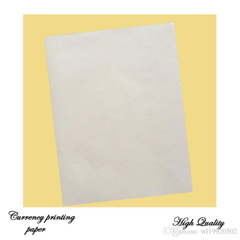 bond printinng paper 75% cotton 25% linen starch free with red and blue  fiber waterproof paper a4 size white color