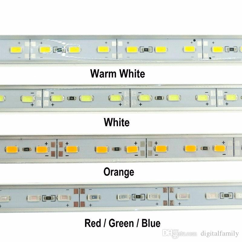 6XHard LED bande sous-marine lumière étanche IP68 5630SMD Cool Bar blanc rigide rigide 36LEDs bandes d'éclairage de 0,5 mètres avec 7 couleurs pour le choix
