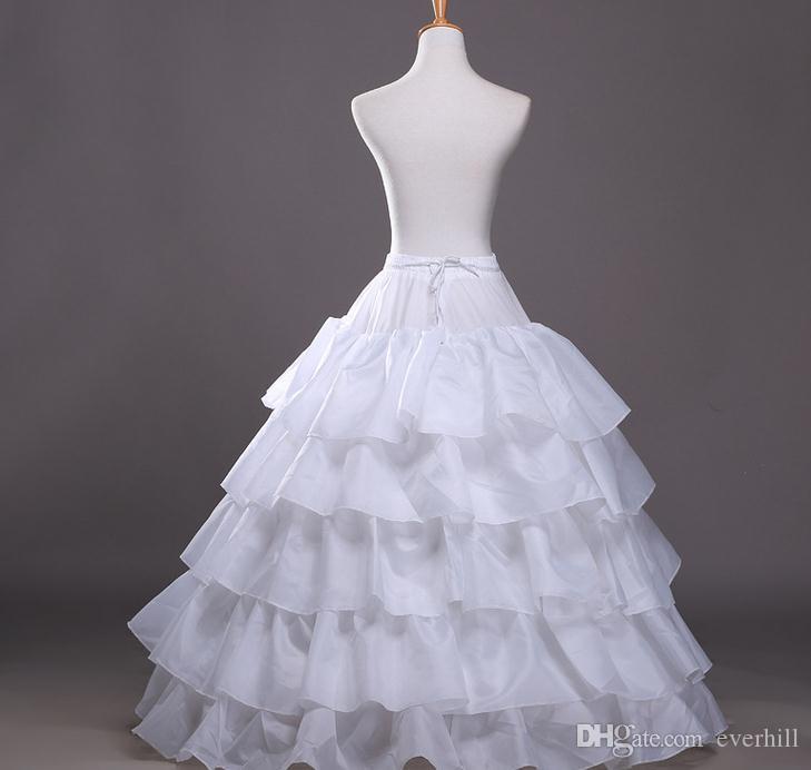 Jane Vini 4 Hoops 5 Saia De Folhas De Lótus para o Casamento Quinceanera Vestidos Preto Red Ball Gown Underskirts Crinolina De Noiva 4 Osso Deslizamento Completo