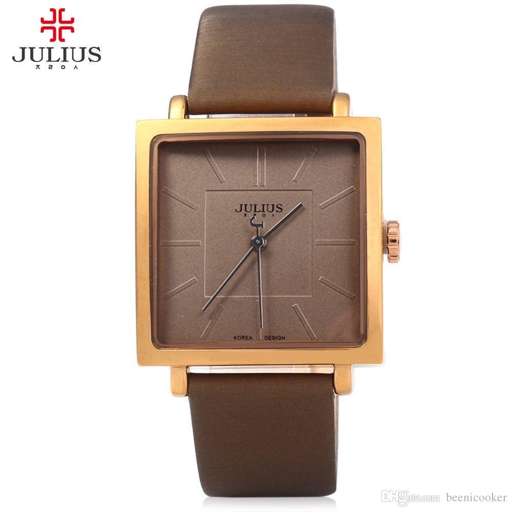 afc1c96d455 JULIUS Quartz Brand Lady Watches Women Luxury Rose Gold Antique Square  Casual Leather Dress Wrist Watch Relogio Feminino Montre Latest Watches  Trendy ...