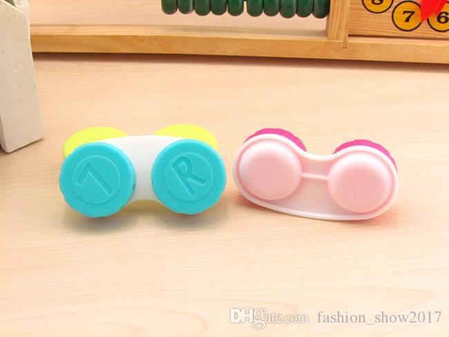 New Plastic portatile popolare Mini Piazza delle lenti del contatto di corsa della scatola Easy Kit Carry Specchio Container