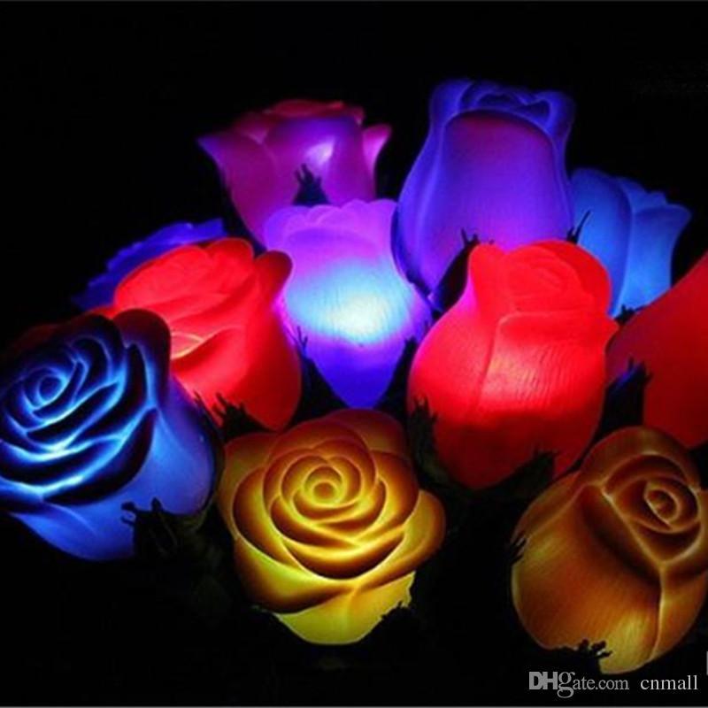 Compre Muchos Colores Pvc Rosa En Forma De Luz Led Luz De La Noche