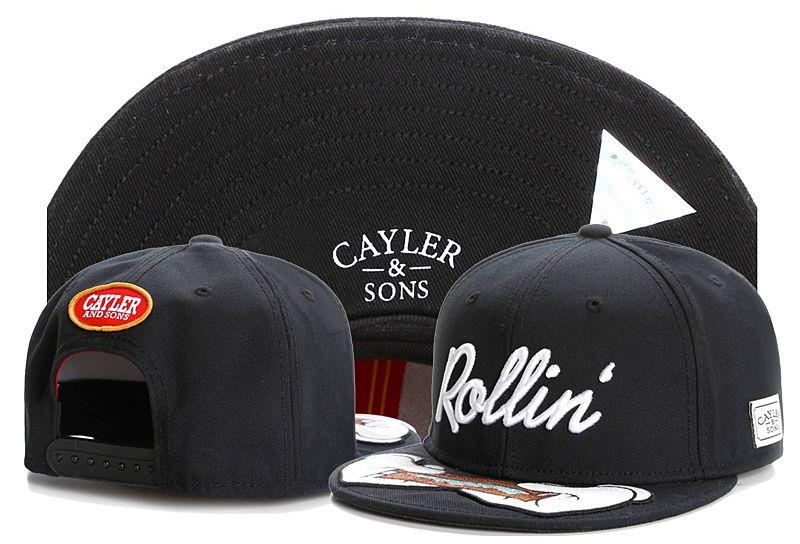 NEUE Ankünfte Cayler-Söhne passten Kappen-Anpassungs-Mode-schwarzer justierbarer Hut-Hip Hop-Kappen Baseball-Hüte