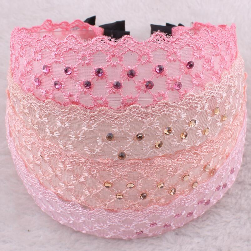 Brand new New headdress hairlace lace wide cloth hair hoop bow knives hoop hair card hot TG057 a