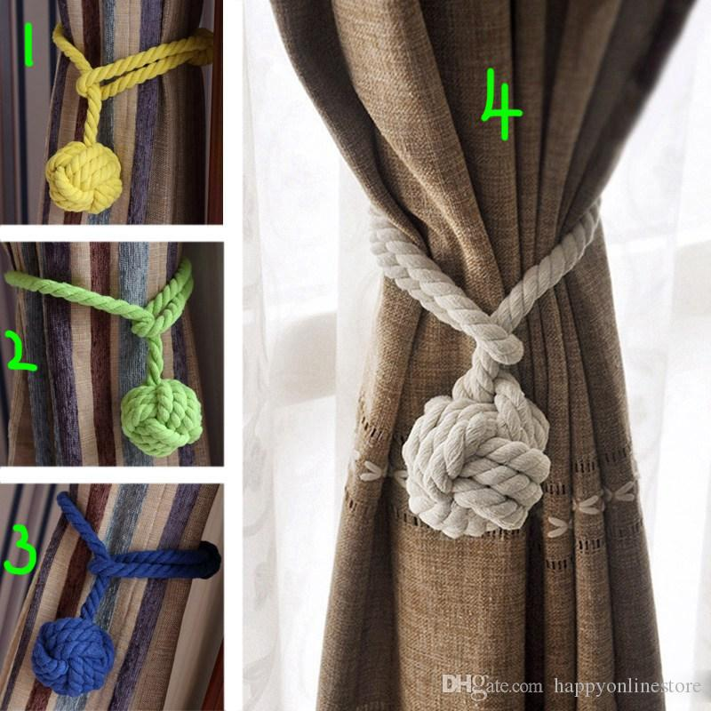 New Design Cotton Braided Curtain Tieback Rope Single Ball Drape Tie Backs  Window Drapery Holders