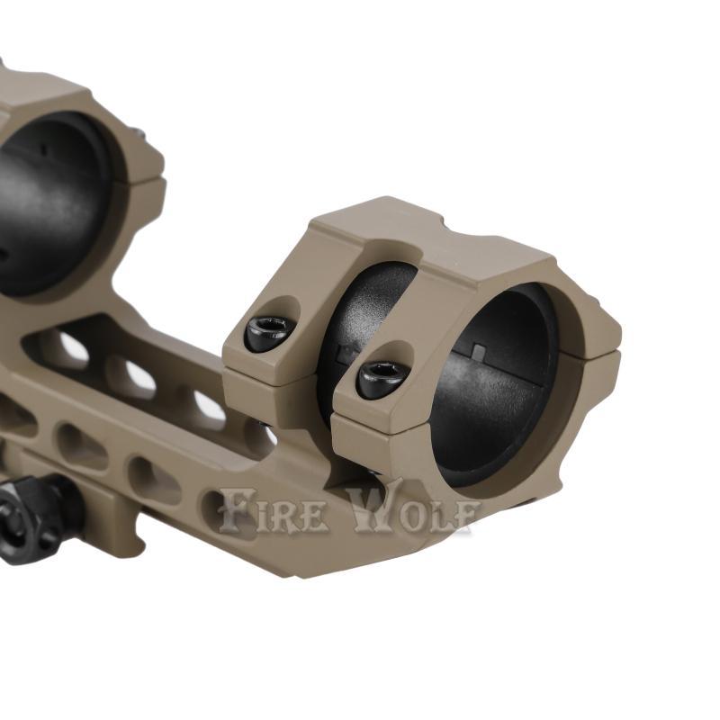 Огонь волк 30 / 25.4 мм смещение Picatinny Ткачиха охота прицел кольца крепление двунаправленный с пузырьковый уровень железнодорожных креплений