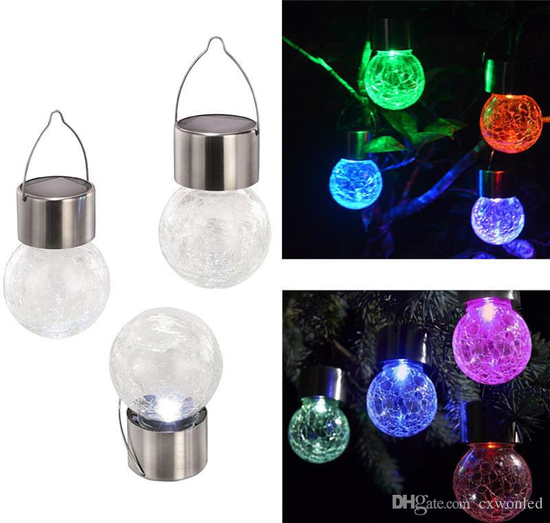 LED Solar Light Lamps hang Led ball 7 colour changing Garden Lights Outdoor Landscape Lawn Lamp Solar Wall Lamps