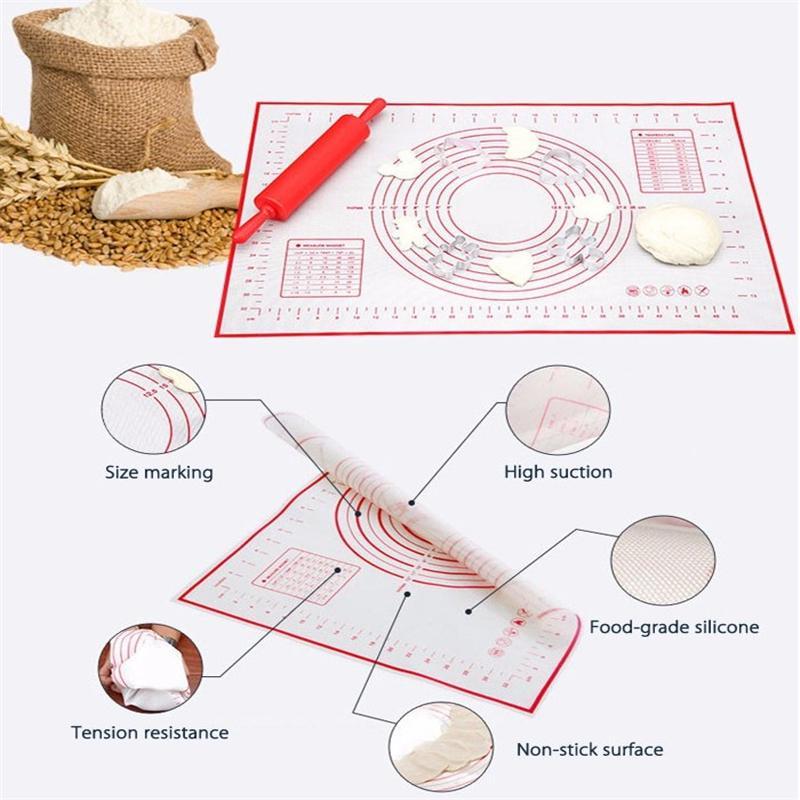 Vassoio di cottura Pasta da forno Pasta da forno in silicone Utensili da cottura a caldo Stuoia da tavolo pasticceria Impasto biscotti Pasta pasticceria Utensili da cucina