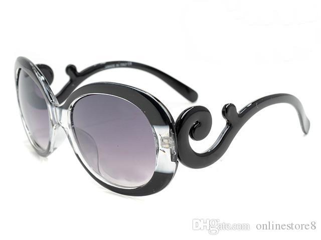 Occhiali da sole vintage di lusso di alta qualità di marca di lusso vintage moda occhiali da sole rotondi occhiali da sole da donna da donna con astucci originali