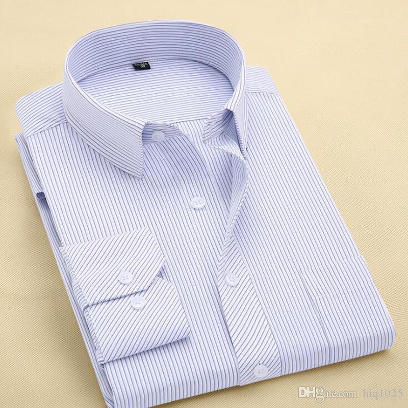 真新しい男性のシャツの男性のドレスシャツの男性のファッションのカジュアル長袖ビジネスフォーマルシャツCamisa Social Masculina