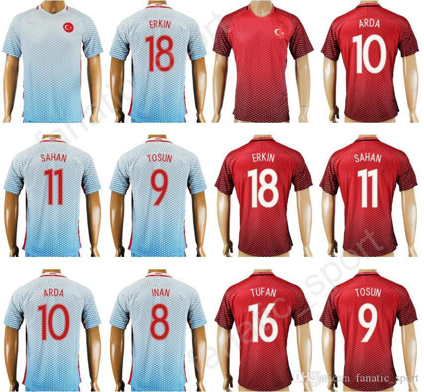 e72010b8e 2019 17 18 National Team Turkey Soccer Jersey Thai Personalized 10 ARDA 9  TOSUN 8 INAN 9 SUKUR 18 ERKIN 11 SAHAN Football Shirt Kits Quality From ...