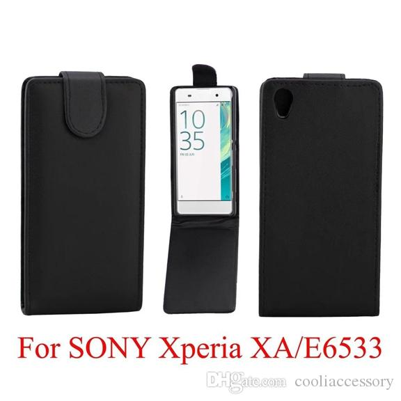 Flip PU Leather Pouch Case For Google Pixel Sony Ericsson Xperia E5 X F5122 / XA E6533 Vertical Blank Smooth Plain Phone Bag Skin Cover