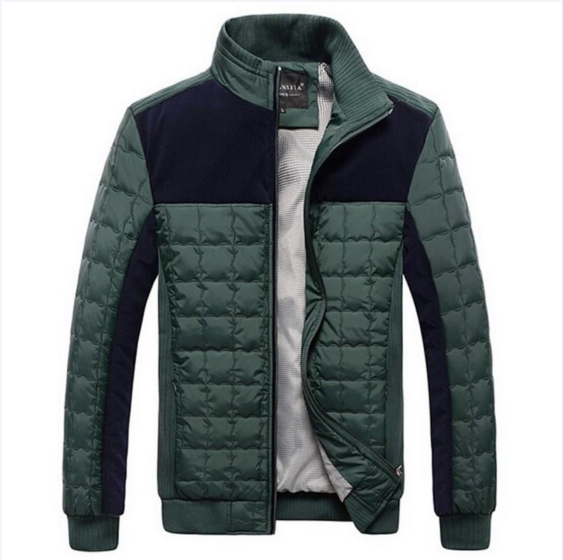 Wholesale Men'S Fashion Winter Coats Mens Casual Patchwork Warm ...