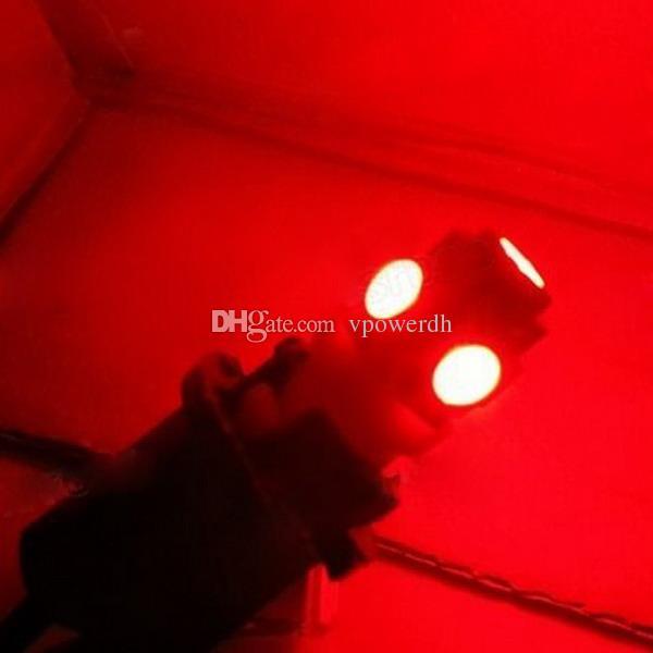 6000 K Branco / Vermelho Luz T10 Interior / Matrícula SMD Xenon Lâmpada 5-LED M00018
