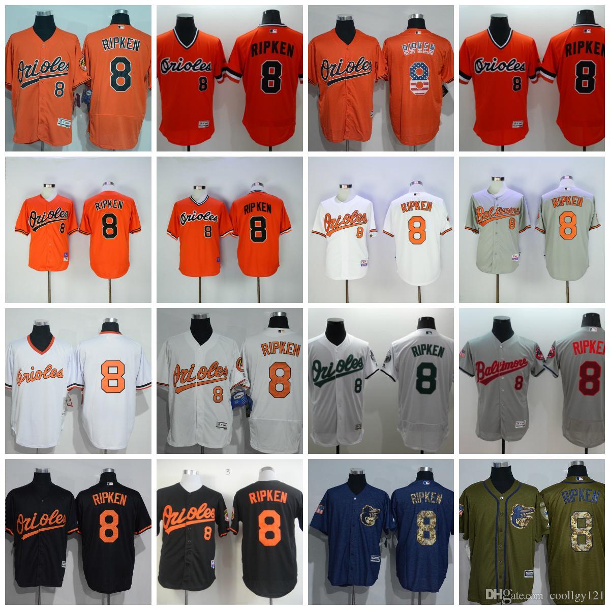 cd2dcc191 ... 2017 Cheap MenS 8 Cal Ripken Jersey 1989 Cooperstown Baltimore Orioles  Baseball Jerseys Throwback Cream Flexbase Mens Black Cal Ripken ...