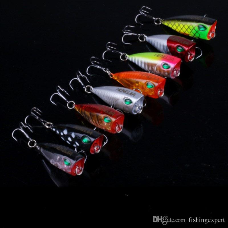 Popper Lifelike Fishing Lures 4cm Mini Fake Fishing Baits 3.5g Colorful Plastic Hard Baits Combo for Saltwater