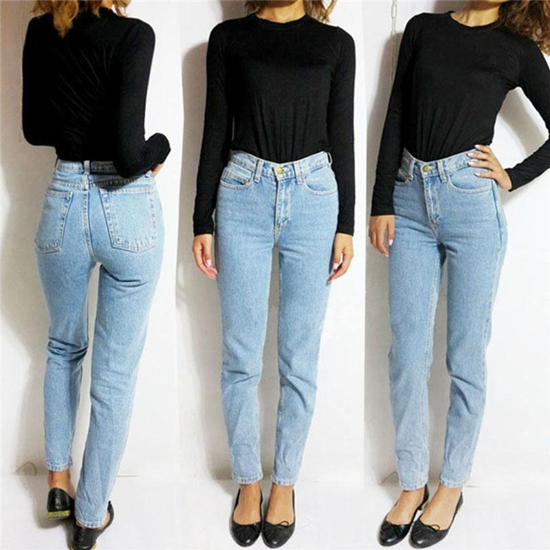 2017 Vintage High Waist Jeans Women Denim Pants 2016 New Slim ...