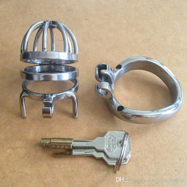 Doctor Mona Lisa - The New Male Annular Chastity Cage Device Belt Middle Size Stainless Steel Kit Bondage SM Toys