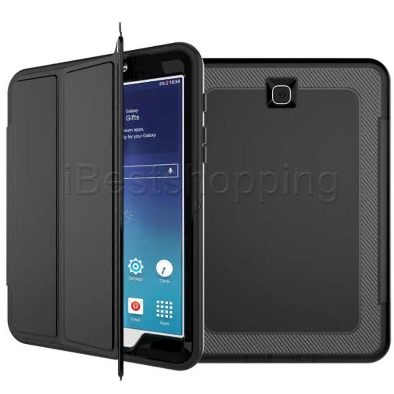 كفر حماية جلد PU + TPU + PC for ipad mini1 2 3 4 air2 pro9.7 pro10.5 pro12.9 Samsung T560 T580 T710