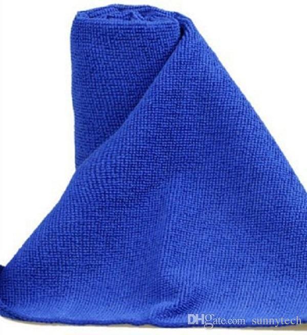 30x30cm Blau weichen Mikrofaser-Reinigungstuch für Auto-Waschtuch Auto Care-Platz Heim Badezimmer Küche Waschkraft Handtücher WA1606