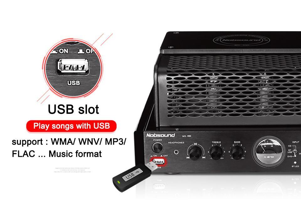Nobsound MS-30D e MS-30D MKII 2.1 canali hifi bluetooth amplificatore a valvole 25W + 25W 110V / 220V Supporto Usb amplificatore di potenza MS-10D MKII aggiornamento