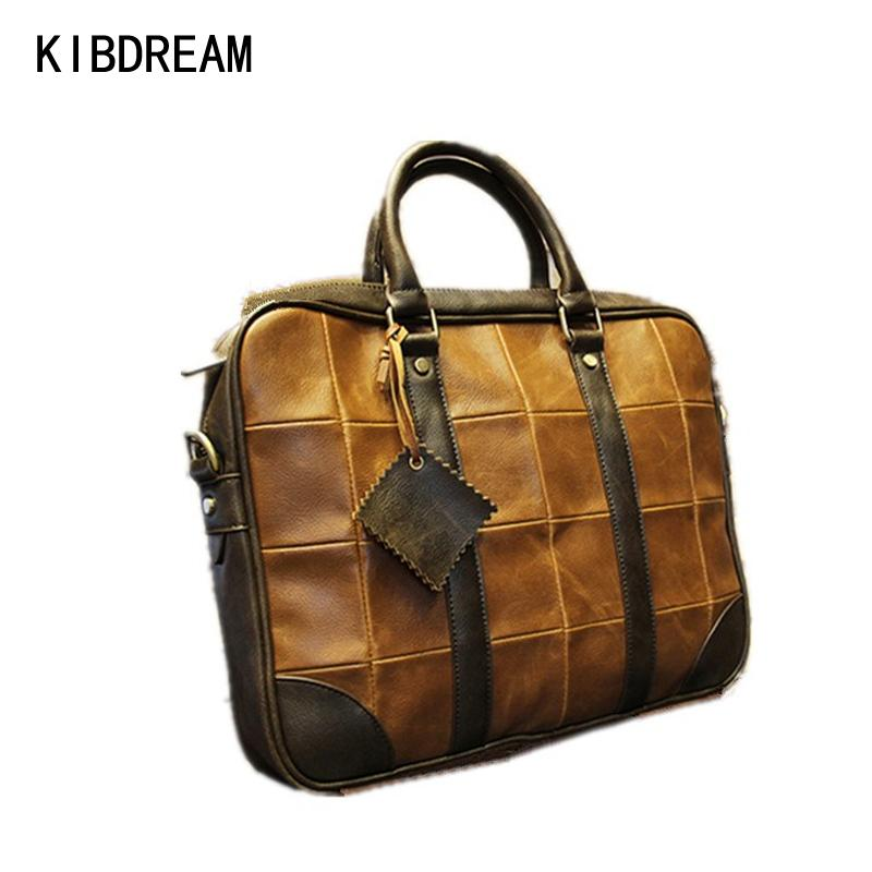 c4ffc525c2 Wholesale KIBDREAM New Popular Leather Business Bag For Men Messenger  Shoulder Bags Large Crossbody Bags Laptop Handbag Briefcase Shoulder Bags  For Men Mens ...