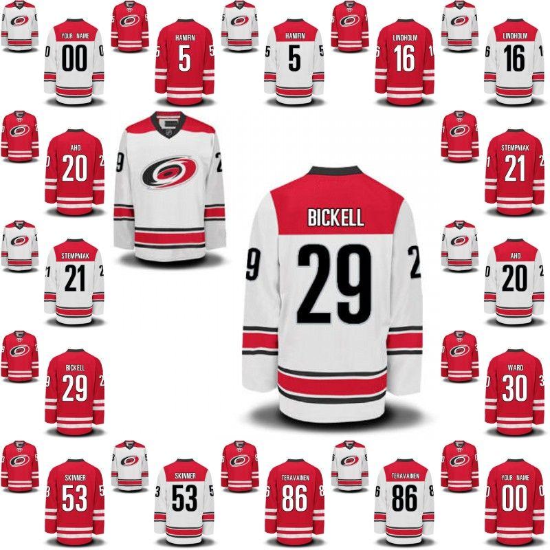 d33fdfa01 2017 carolina hurricanes 5 noah hanifin 29 bryan bickell 30 cam ward 53  Blackhawks 29 Hockey Jerseys ...