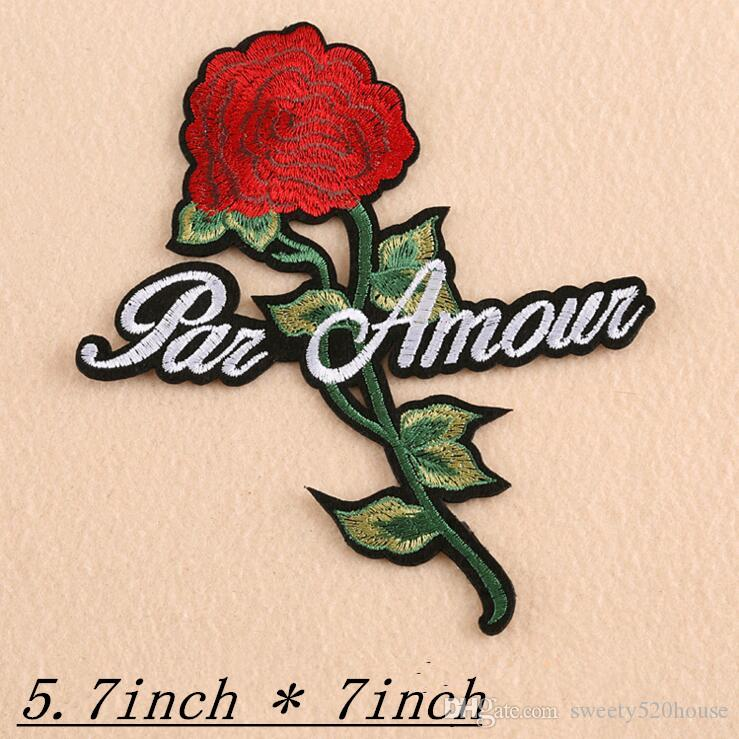 SIX forms of rose patches Embroidery Patch Motif Applique Children Women DIY Clothes Sticker Wedding