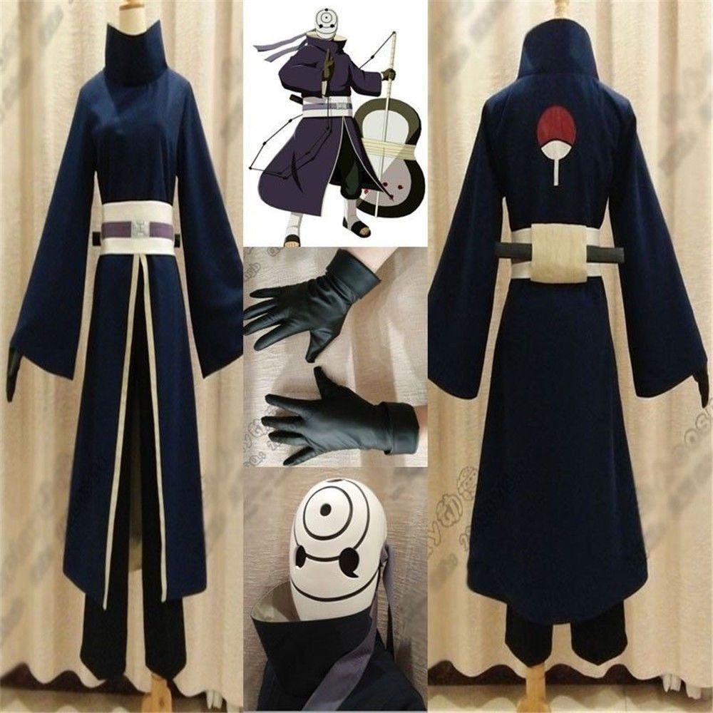 Compre Kukucos Anime Naruto Akatsuki Ninja Tobi Obito Traje De Cosplay  Tamaño Masculino Traje Completo Traje De Halloween A  42.63 Del Kukucos  3486142bc1d