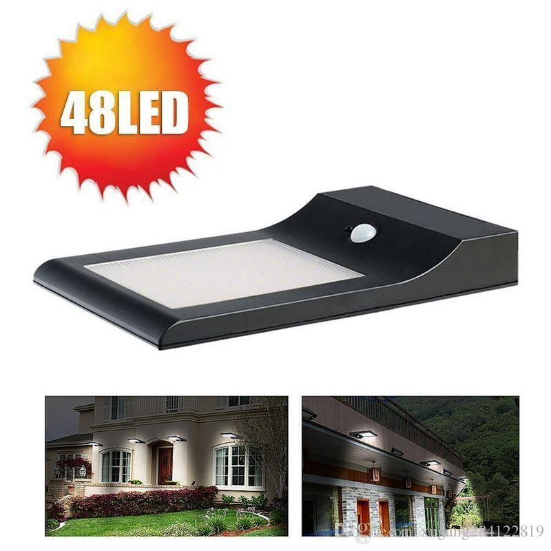 online cheap super bright new arrival 850 lumens 48 leds solar powered led motion sensor light outdoor wall garden thin yard street lamp by - Led Motion Sensor Light