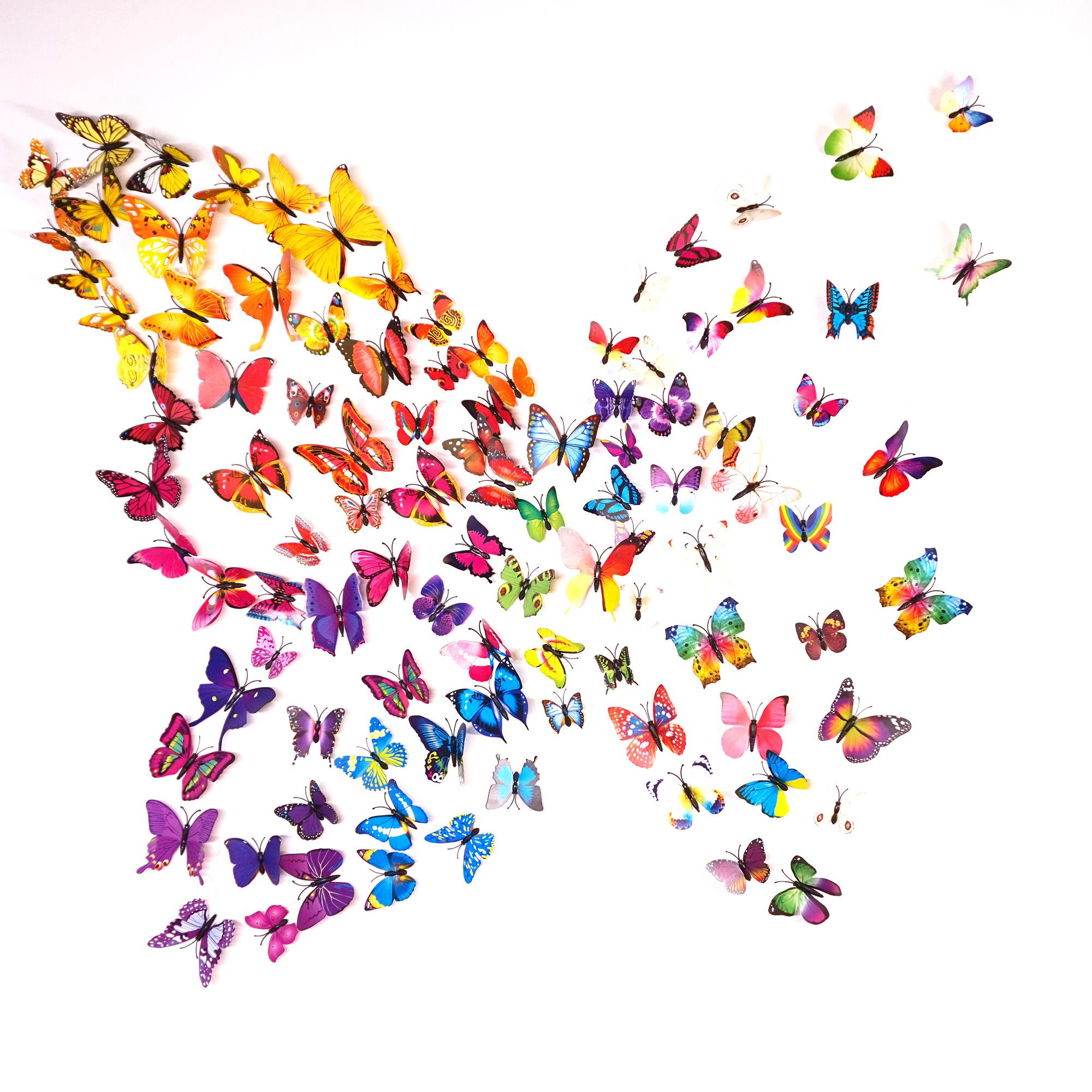 3d Butterfly Wall Stickers Decals Home Decor For Fridge Kitchen  # Muebles Boulevard Tigre