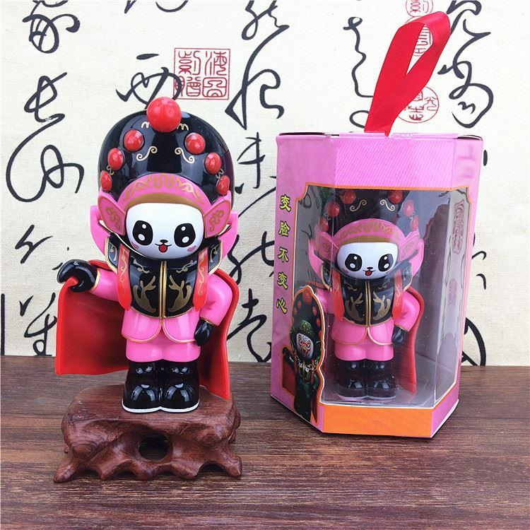 Genuine new large vinyl dolls of Sichuan opera face painted ornaments Sichuan Chengdu creative gift