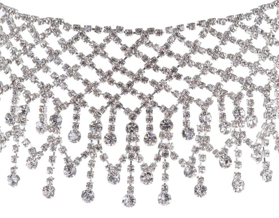 أزياء العلامة التجارية مخلب كريستال المختنق قلادة المرأة حجر الراين بيان necklacespendants كوليرز الذهب مكتنزة قلادة مجوهرات الزفاف 2017