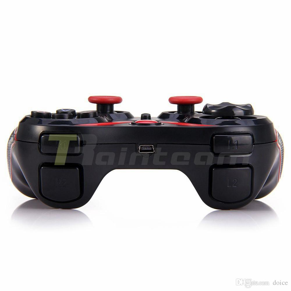 T3 Bluetooth Gamepad For Android Phone Pad Smart Box PC Joystick Wireless Bluetooth Joypad Game Controller With Mobile Holder