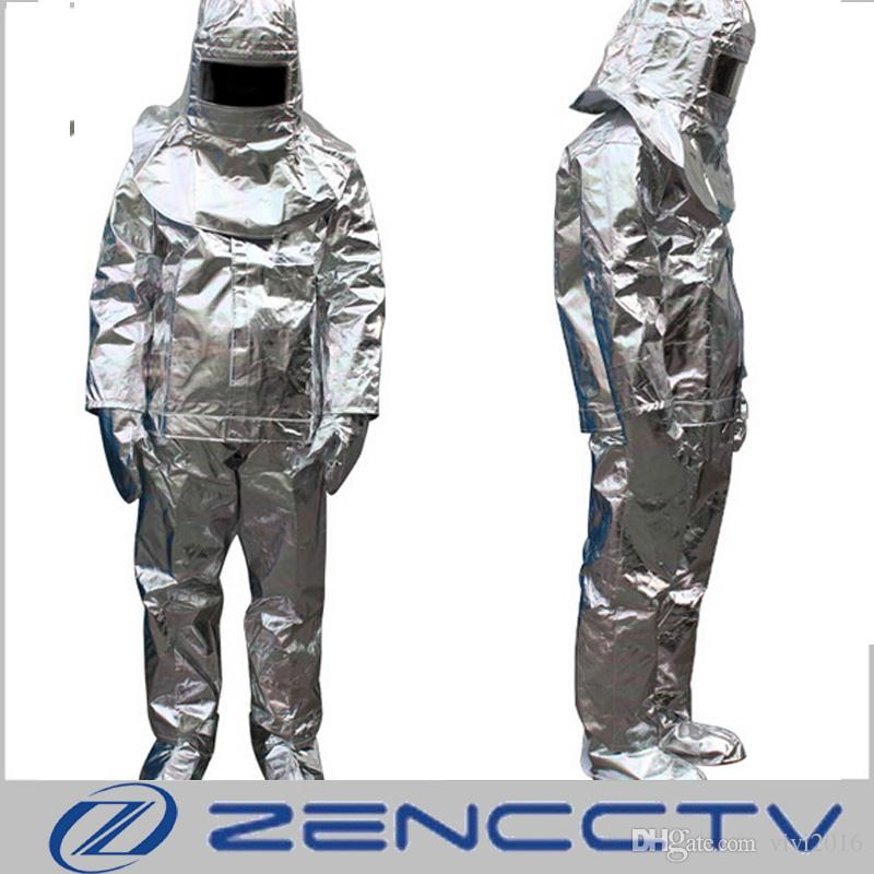 1c572b11aefd 2019 High Quality 500 Degree Thermal Radiation Heat Resistant Aluminized  Aircraft Escape Suit Fireproof Clothes Firefighter Uniform From Vivi2016