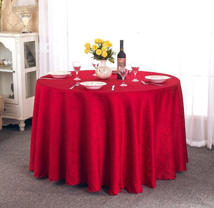 rotonda Table Cover panno di tabella le tabelle banchetto di nozze della decorazione del partito del tessuto del raso Tabella Abbigliamento nozze Tovaglia Home Textile WT021