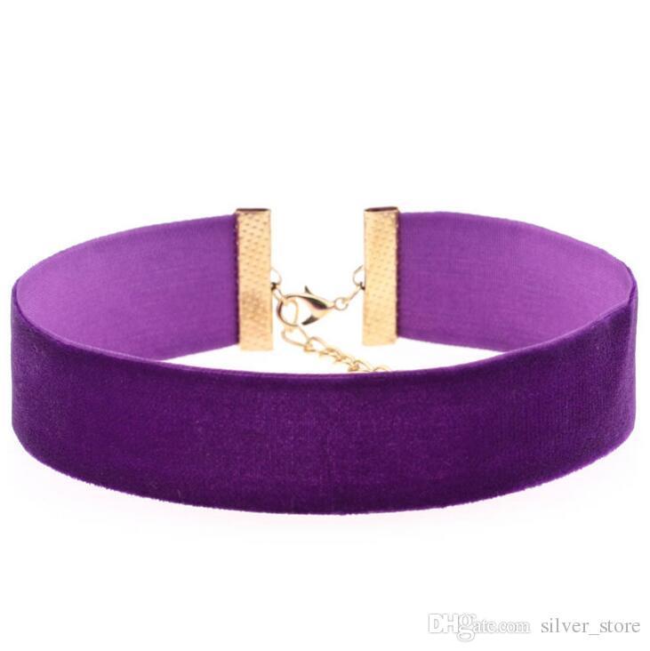 Новый взрывной моды преувеличены воротник ожерелье бархат ожерелье ожерелье WFN253 с цепи смешать порядка 20 штук много