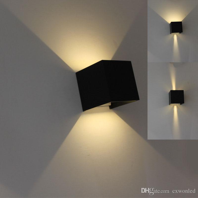 llevó la luz de la pared 85-265v 7w 12w IP65 a prueba de agua Dormitorio Luz de la sala de estar Balcón Pasillo Lámpara de pared Mordern diseños simples
