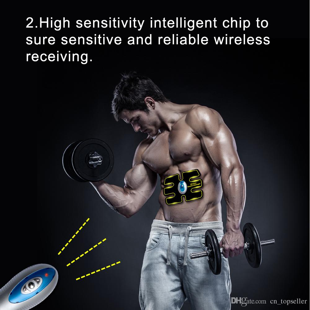 جديد لاسلكي البطن العضلات الحبر التنغيم الجسم abs صالح الوزن العضلات التدريب والعتاد حزام ل الذراع البطن Thight