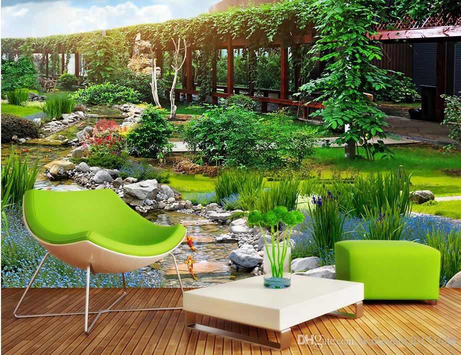 Garden Park 3d Landscape Background Wall Background Painting Mural 3d  Wallpaper 3d Wall Papers For Tv Backdrop Cell Phone Wallpapers Cell  Wallpapers From ...