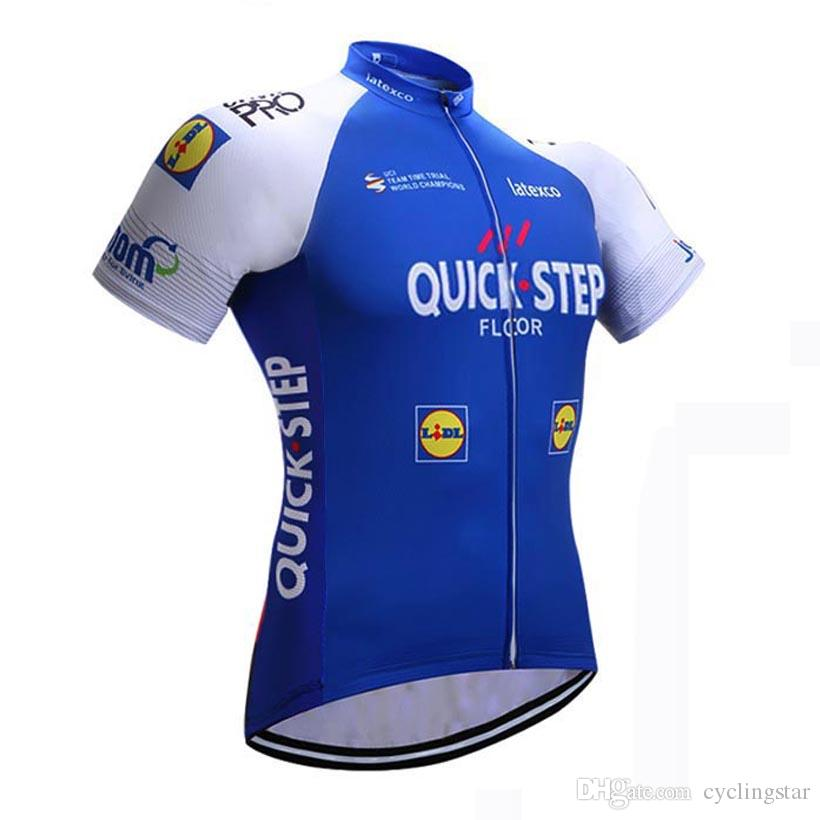 2017 Etixx Quick Step Cycling Jersey Short Sleeve Bicycle Shirt Ropa  Ciclismo Men Cycling Clothes Bicycle Clothing Summer MTB Bike Wear C099  Wholesale T ... c1621f7f3