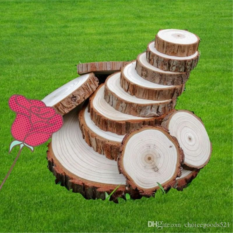 2019 Round Wooden Wood Log Slice Natural Tree Bark Table