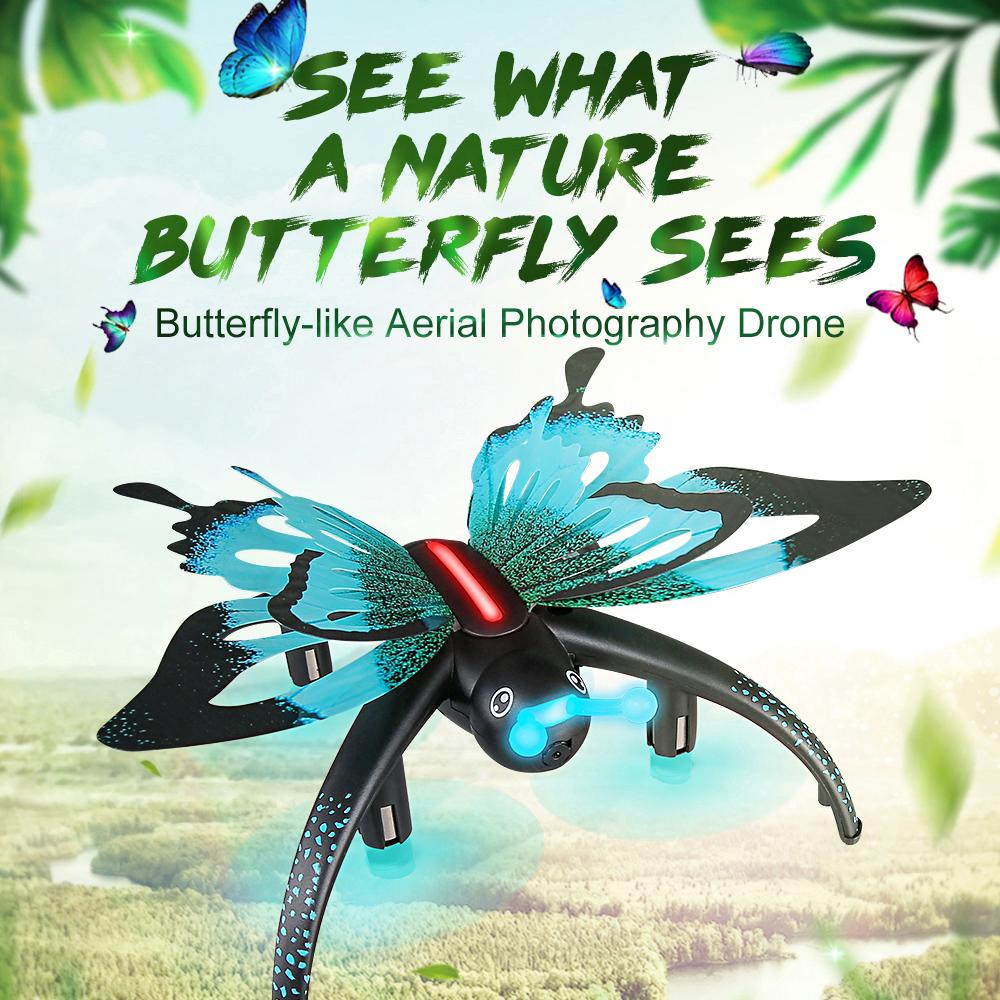 Drone Simulation butterfly 2.4G RC Wifi aerial Quadcopter Altitude Hold 3D Roll One Key Return Santa Claus Quadcopter Helicopter Christmas T