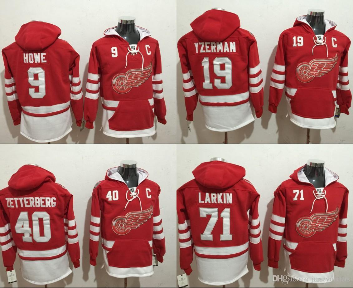 2019 Detroit Red Wings 9 Gordie Howe Steve Yzerman Justin Abdelkader 40 Henrik  Hoodie Sweatshirt From Jerseyoutlets 120b879a2