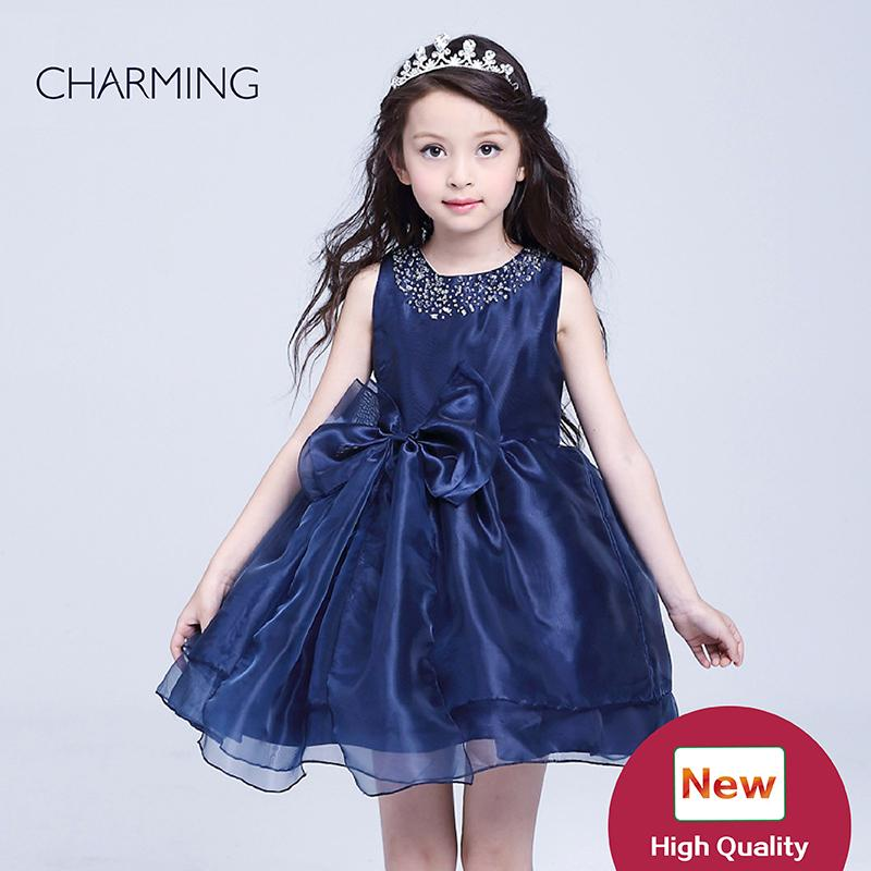 Navy Girls Dress Little Girls Party Dresses Designer Kids Dresses Buy From China ...